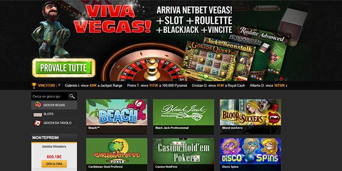 NetBet casino in versione Vegas