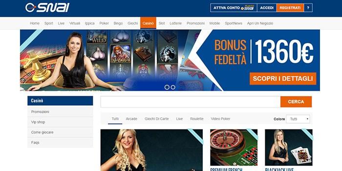 casino online snai